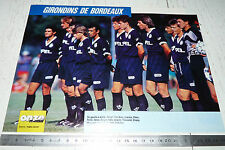 CLIPPING POSTER FOOTBALL 1989-1990 GIRONDINS BORDEAUX PARC LESCURE