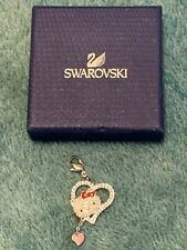 Swarovski Crystal RETIRED Hello Kitty Heart Charm Covered in Crystals RARE!!