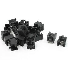 20pcs RJ45 8P8C Computer Internet Network PCB Jack Socket Black