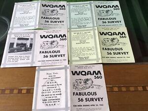 15 WQAM radio music Surveys Beatles British Invasion Nice! Miami, FL.