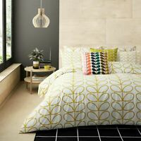 ORLA KIELY LINEAR STEM DANDELION YELLOW 200TC 100% COTTON KING SIZE DUVET COVER