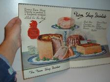 More details for ** vintage c1940s farm shop advertising brochure fold out **