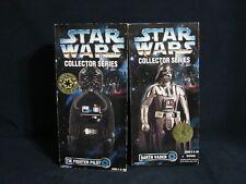 "Star Wars Collector Series 12"" Darth Vader & Tie Fighter Pilot Lot New Kenner"