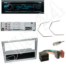 Kenwood KDC300UV CD/USB Radio + Opel Meriva Combo Blende anthrazit + ISO Adapter