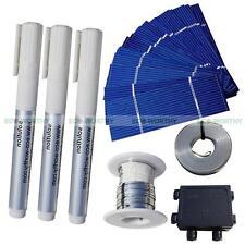 108PCS 78x26mm Power Poly Solar Cell Cells+65' Tab Wire 16' Bus 3 Flux Pen J-box
