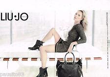 PUBLICITE ADVERTISING 065  2013  LIU-JO  mode ( 2p)  avec KATE MOSS
