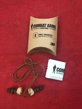 ONE NEW PAIR 3M Combat Arms Ear Plugs Small Ear Canals 6515-01-576-8837 Green