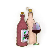 Wine Bottle Switchables/Sun Catcher Stained Glass  SW055