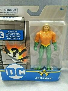 DC AQUAMAN 4 Inch Action Figure 3 Mystery Accessories Heroes Unite Spin Master