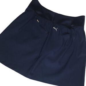 Puma Womens Skirt Size XL Golf Tennis Skort Short Blue Stretch Zip Pockets EUC