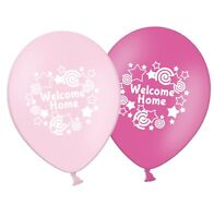 """Welcome Home - 12"""" Printed Light & Dark Pink Assorted Latex Balloons pack of 8"""