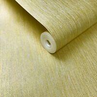 Portofino non-woven Wallpaper rolls white stria lines gold Metallic Plain Modern