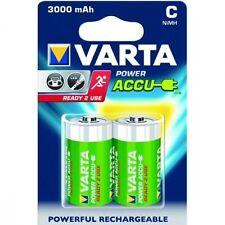 2 batterie 1/2 Torcia  mezzatorcia ricaricabile VARTA  3000mAh  già cariche