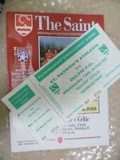 1994 St. Patrick's Athletic v Celtic, 12th Jan (PROGRAMME and TICKET)