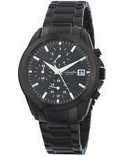 Eichmüller premium IP-negro chronograph acero inoxidable reloj hombre Miyota 6s10 + Box
