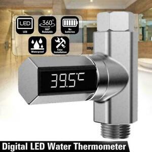 Wasser Temperatur Monitor Led-anzeige Wasser Fluss Thermometer L5Y7 Dusche B2H7