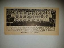 Middlebury Vermont College 1927 Football Team Picture