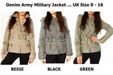 Camouflage Cotton Plus Size Coats & Jackets for Women