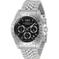 Invicta Men's Watch Speedway Chronograph Silver and Black Dial Bracelet 30989