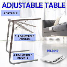 Foldable Portable Adjustable Tray Table Laptop Desk Home Bed Office Dinner TV