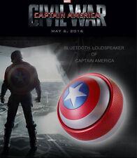 Marvel Captain America Action Figures Bluetooth 4.0 Mini Speaker LED Toy Doll