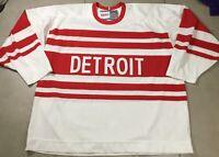 Men's Vintage Hockey CCM Detroit Red Wings Jersey Sz 2XL XXL NHL Official