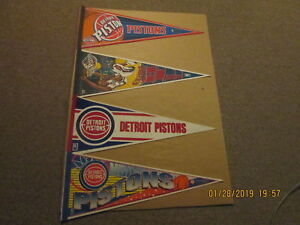 NBA Detroit Pistons Vintage 1990's & 2000's & Grant Hill Basketball Pennants