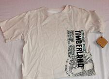 Nuevo Timberland De Color Blanco T-Shirt Top 12 meses Bebé Chicos Auténtico
