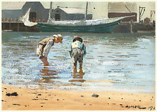 Winslow Homer Watercolor Reproductions: Boys Wading: Fine Art Print