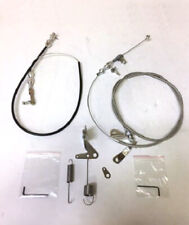 """Chrysler 904 Kickdown Cable + 36"""" BLACK Throttle Cable Cut to Fit w/ Bracket Kit"""