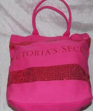 Victoria's Secrets Tote Women Sexy Purse Handbag Shoulder Canvas Beach Bag Pink