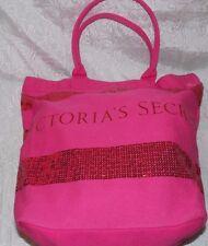 Victoria's Secret Tote Women Sexy Purse Handbag Shoulder Canvas Beach Bag Pink