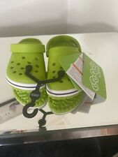 Crocs In Lime Size C12 Clogs/Sandals, Children's Kids NEW + TAGS