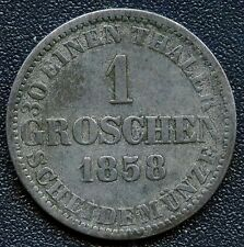 1858 'B' Germany Hanover 1 Groschen Coin