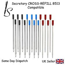 CROSS COMPATIBLE 8513 BALL POINT PEN REFILL INK -BLACK BLUE RED-3,4,5,6,10,12