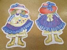 Cloth Doll Pattern Pillow Panel Petticoats & Pantaloons Vintage Blue Dress #1