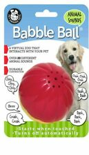 Pet Qwerks Animal Sounds Babble Ball Large Touch Activated Solid Dog Ball Toy