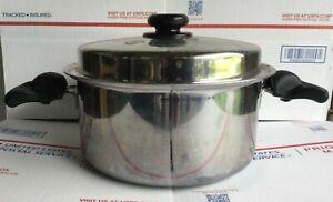 Saladmaster 316Ti Titanium Stainless Steel USA 7 Qt Roaster Dutch Oven Pot Pan