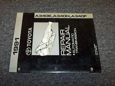 1991 Toyota Supra & Cressida A340E Transmission Shop Service Repair Manual