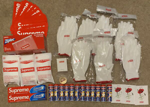 NEW Supreme LOT of 40 Accessories & Gifts Bubbles Ponchos Gloves Poppy Ziploc