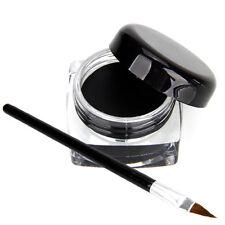Waterproof Eye Liner Eyeliner Gel Makeup Cosmetic + Brush Black ONE   New.
