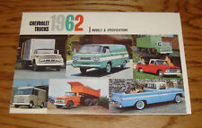 1962 Chevrolet Truck Full Line Sales Brochure 62 Chevy Pickup Corvair 95