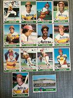 1979  HOUSTON ASTROS Topps Baseball Team Lot 14 Cards+ 2 Ex. JOAQUIN ANDUJAR !