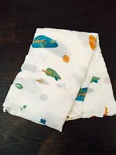 """New! Soft Bamboo Muslin Swaddle Breathable Multi Use Blanket 47""""x47""""- Fox"""