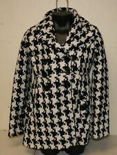 Candies Womens Jacket Black White Design size Small