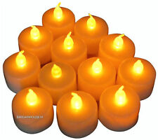 10 yellow   LED TEA LIGHT CANDLES TEALIGHT TEA LIGHTS WITH BATTERIES NEW UK