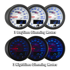 MaxTow 52mm White & Blue  Double Vision  35 PSI Boost Gauge - MT-WBDV01_35