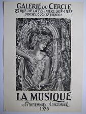 DECARIS ALBERT AFFICHE MUSIQUE 1976 SIGNÉE À L'ENCRE HANDSIGNED POSTER PARIS