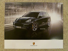 2013 Porsche Cayenne Turbo Showroom Advertising Poster RARE!! Awesome L@@K
