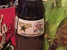 Dallas Stars 1999 Stanley Cup Champions coke bottle